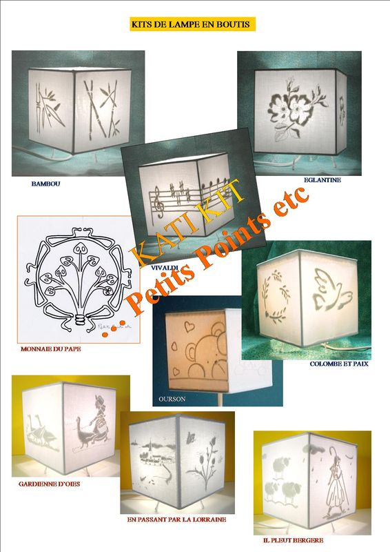 Collection KIT lampe cube