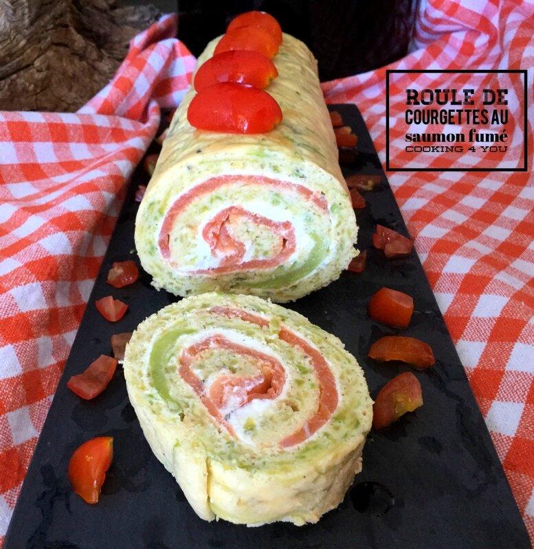 Roulé courgette saumon 136