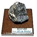Blende-galene s841 - 38.la poype - collection mineraux