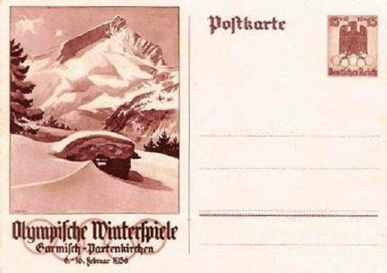 Entier postal Garmisch-Partenkirchen 1936