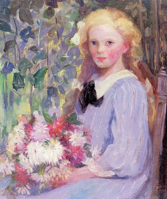 Pammer Pauline - Girl with flowers