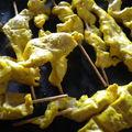 Brochettes de poulet saté
