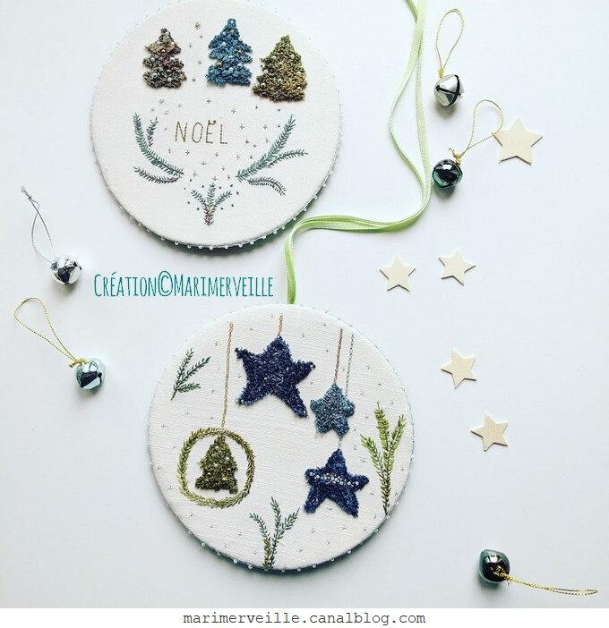 Les galettes de Noël - exclusivité - punch needle - création ©marimerveille