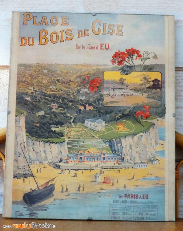 Gravure-ancienne-Gare-d'EU-Bois-de-Cise-muluBrok-Vintage