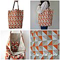Sac graphique orange