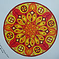 Mandala d'avril en couleurs