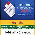 Résultats des élections municipales du 15 mars 2020 à ménil-erreux