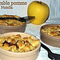 Crumble pomme nutella
