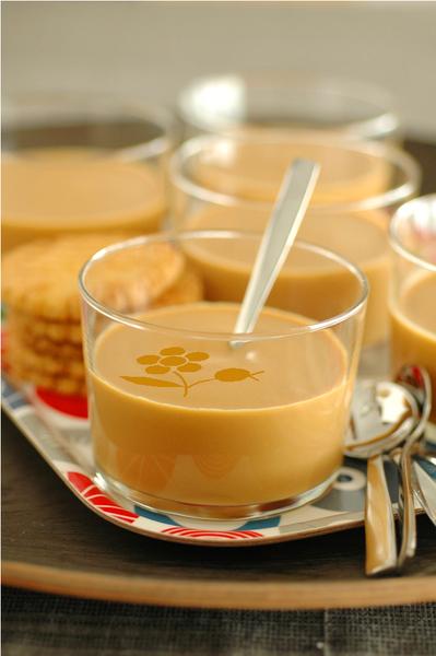 Crème caramel, mascarpone & fromage blanc