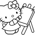HELLO KITTY DESSINE