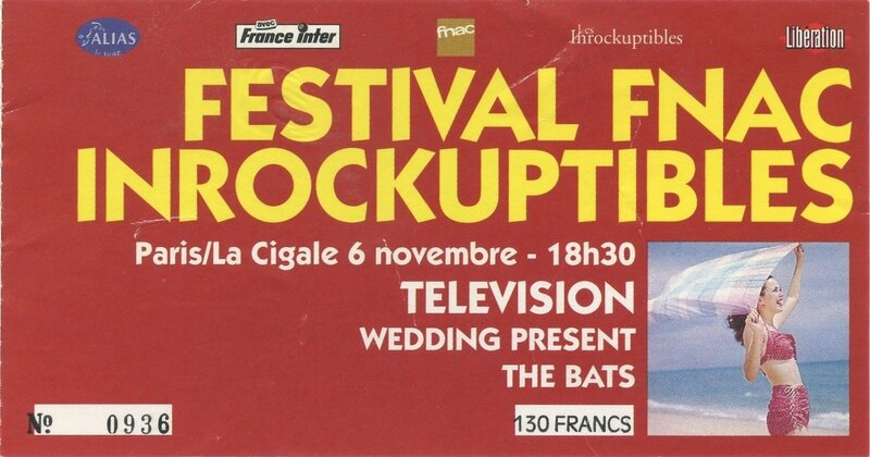 1992 11 Inrocks La Cigale Billet