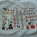 Broderie d'automne