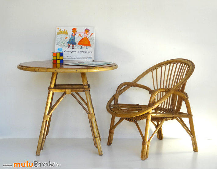 FAUTEUIL-COQUILLE-TABLE-ROTIN-5-ENFANT-muluBrok-Vintage