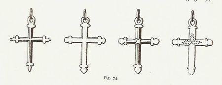Croix du Gapençais aux extrémités ornement en forme de trèfle
