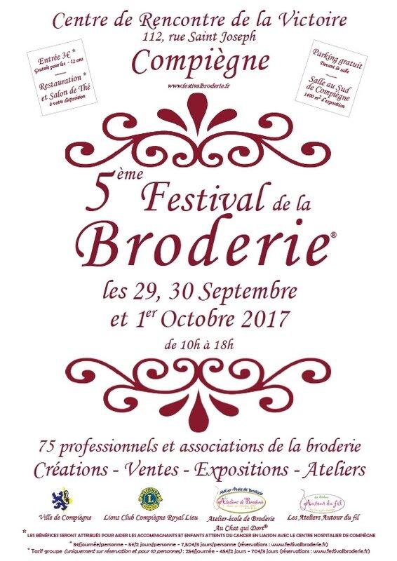 Affiche festival de la broderie compiegne