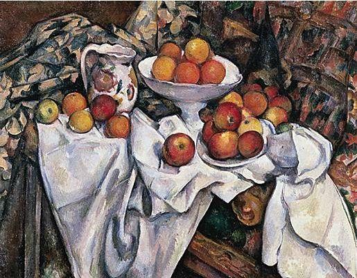Cézanne pommes oranges