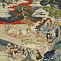 A global bidding festival: sworders asian art sale topped by £21,000 qing silk scroll