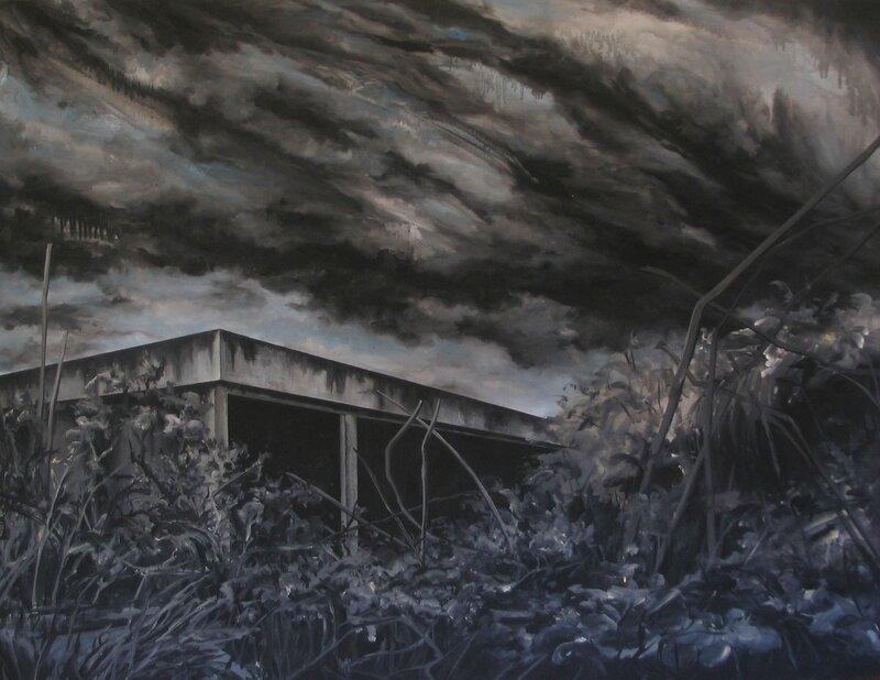 Linda Roux, Sans titre, acrylique sur medium, 130 x 100 cm, 2008