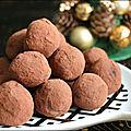 Truffes au chocolat et à l'orange confite...