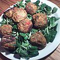 Boulettes patate douce et lentille corail
