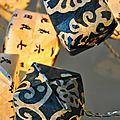 Guirlande cubes bleus de chine