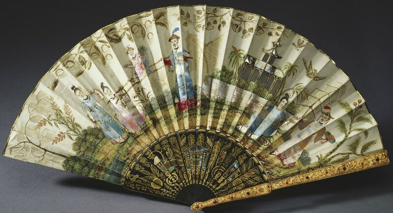 French, Queen Adelaide's fan, c