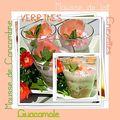 Verrines... la suite en version guacamole, crevettes et mousses légères