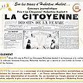 Sur les traces d'hubertine auclert. dfam 03 lance un concours journalistique prix « la citoyenne hubertine auclert » simple !