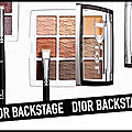 Backstage eye palette - warm neutrals - cool neutrals - dior