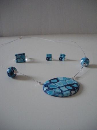 parure bleue turquoise