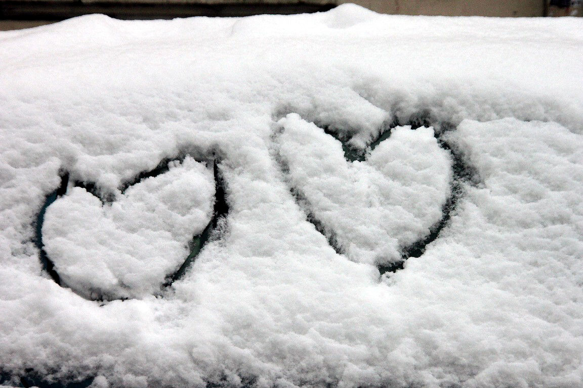 Coeurs, neige, Belleville_4951