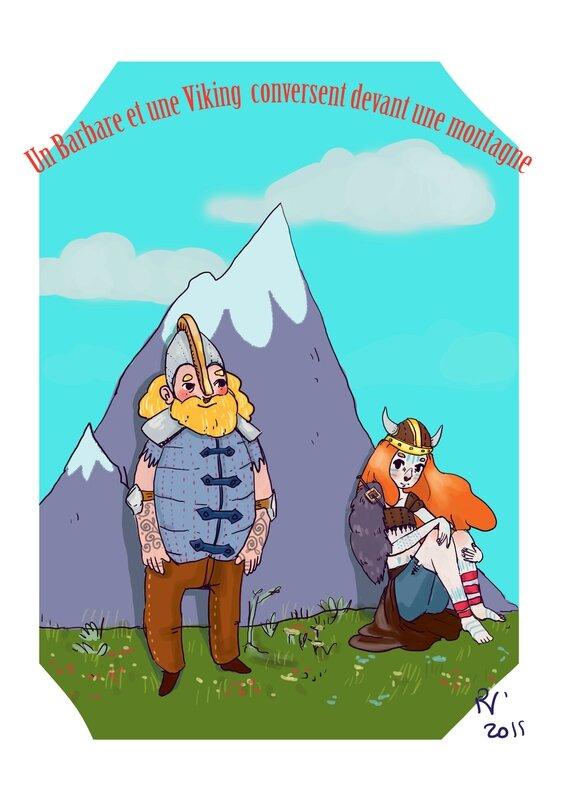 barbare vinking montagne _by roxane volberg