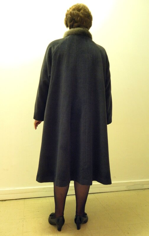 Manteau cape dos