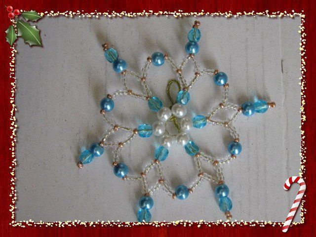Etoile bleu nacre rocaille cristal