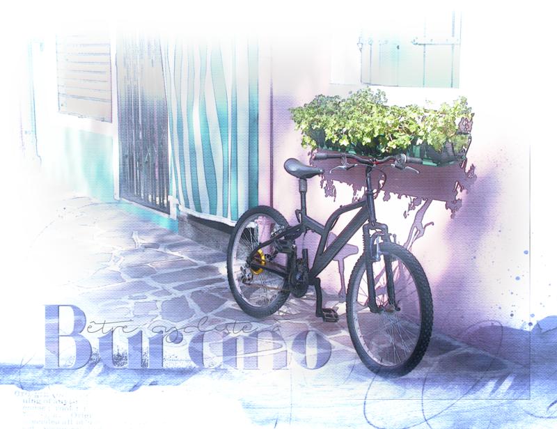 Cycliste à Burano_____