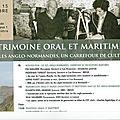 Mrsh université de caen 15 octobre 2018: journée d'études culturelles sur les iles anglo-normandes