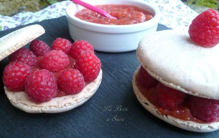 Macarons rhubarbe framboise 5
