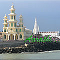 Two catholic churches near kanyakumari shore