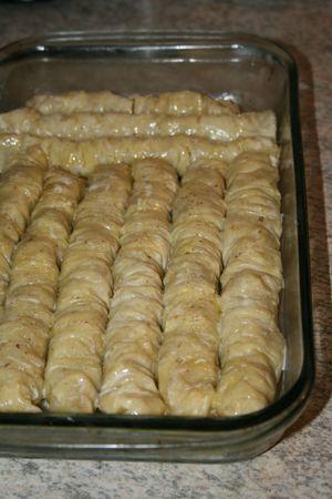 Comment faire baklawa rolls Minouchka 7