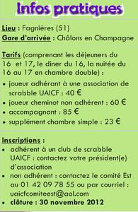 Infos pratiques scrabble 2013