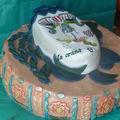 Gâteau masque de Carnaval