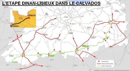 L'étape dans le Calvados