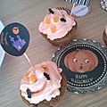 This is halloween # 1 : cupcakes d'halloween choco vanille.