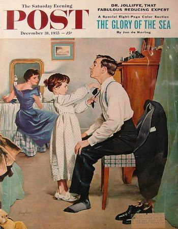 Nouvel an 1955-12-31LG Fixing Father's Tie - George Hughes