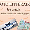 Loto litteraire - jeu gratuit - soiree conviviale, livres a gagner, c'est ce soir a la bibliotheque de septeme a 20 heures.