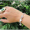 bracelet blanc Ariane (Br43)