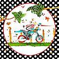 Carte 15 x 15 : Biker