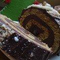 Gâteau roulé aux 3 châtaignes (sans lait et sans gluten)