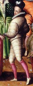 homme à la cour d'Henri III vers 1582