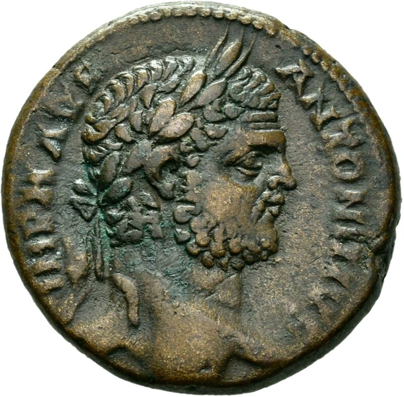 Tyros , front, bust of Caracalla, 209-217 AD, © State Museum of Berlin, Coin Cabinet